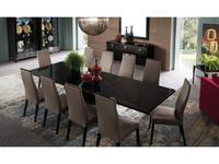 ALF: Mont Noir: стол обеденный  205см раскладной (черный лак)