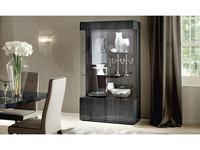 ALF: Montecarlo: витрина 2-х дверная  (серый)