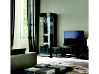ALF: Montecarlo: витрина 1 дверная  левая (серый)