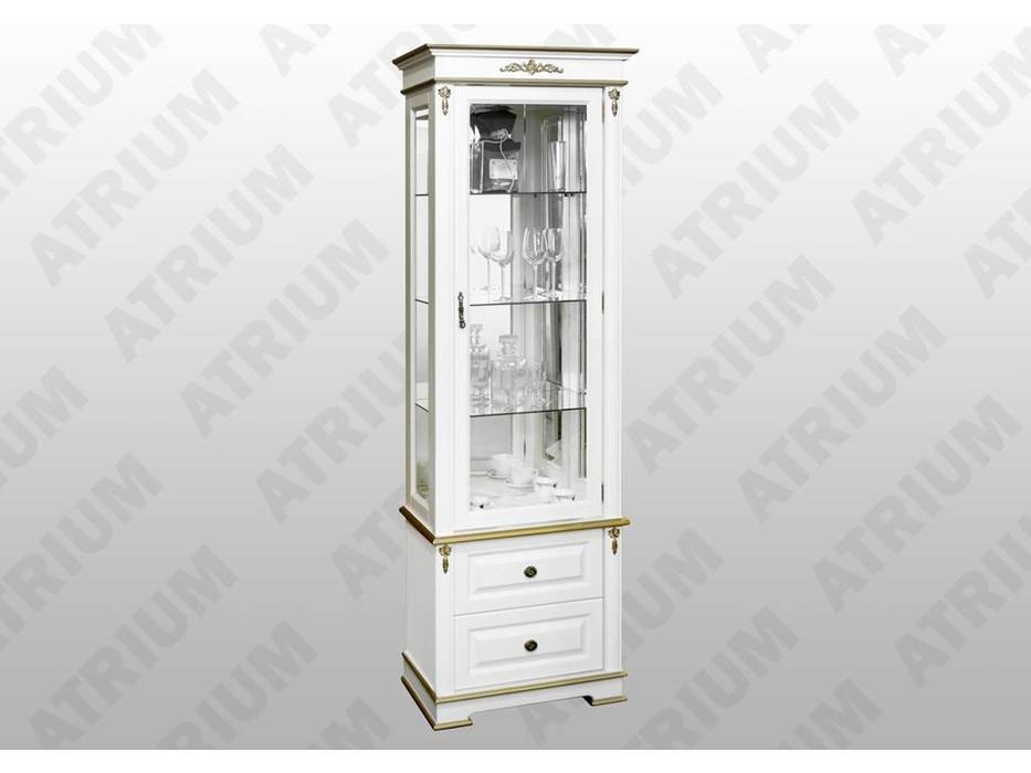 Atrium: Атриум: витрина 1 дверная  (слоновая кость, золото)