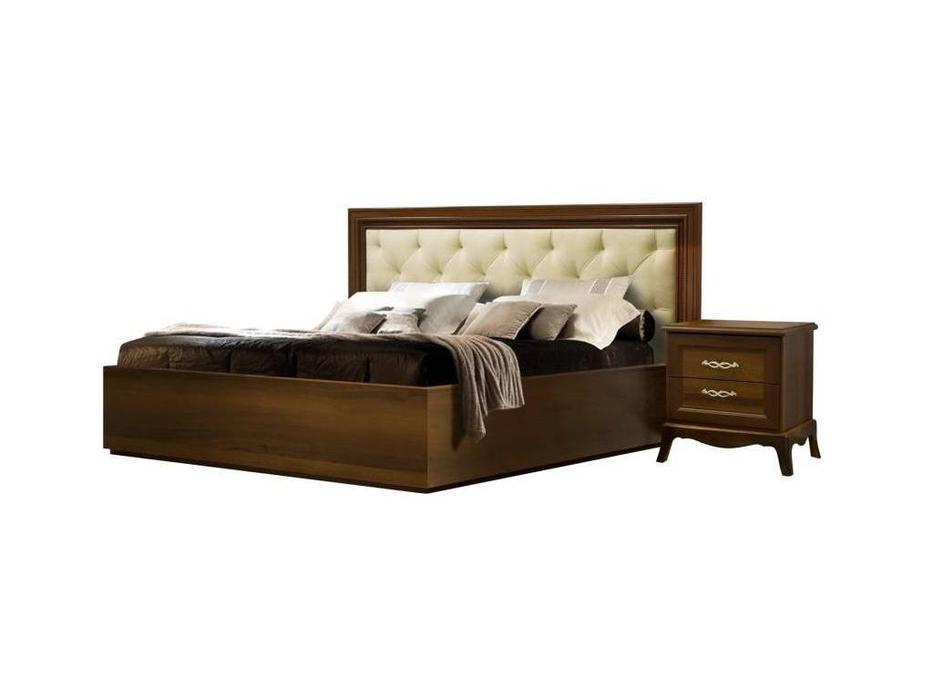 ЯМ: Амели: кровать  180х200 с мягким элементом и с п/м (ноче)