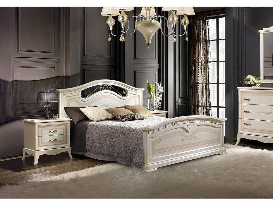 ЯМ: Анна: кровать  160х200 с изножьем (крем)