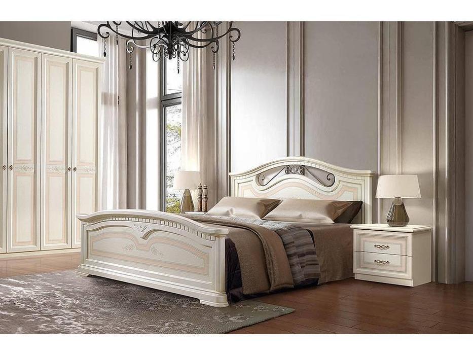 ЯМ: Анна: кровать ] 160х200 с подъемным механизмом (крем)