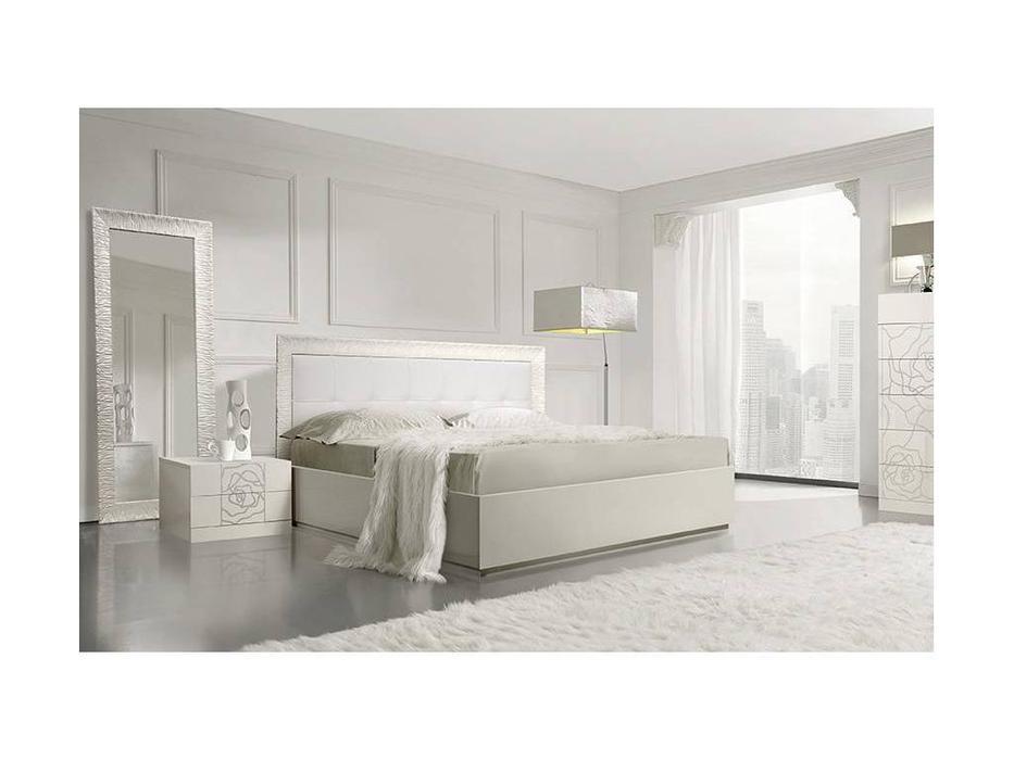ЯМ: Роза: кровать  160х200 (слоновая кость)