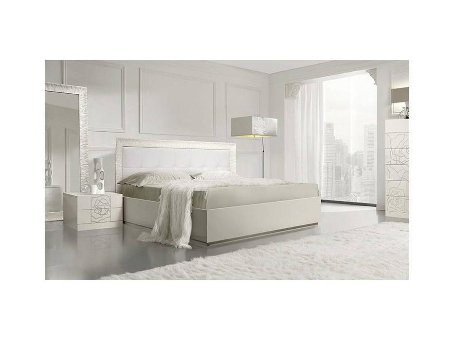 ЯМ: Роза: кровать ] 160х200 с подъемным механизмом (слоновая кость)