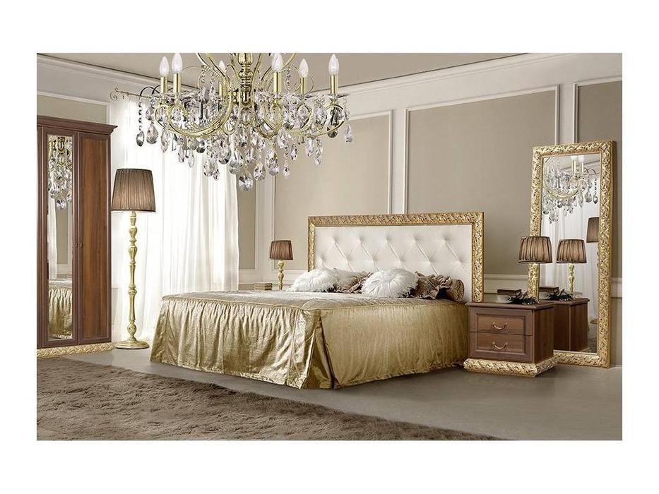 ЯМ: Тиффани: кровать  160х200 с мягким эл-м с подъемным механизмом (крем, золото)