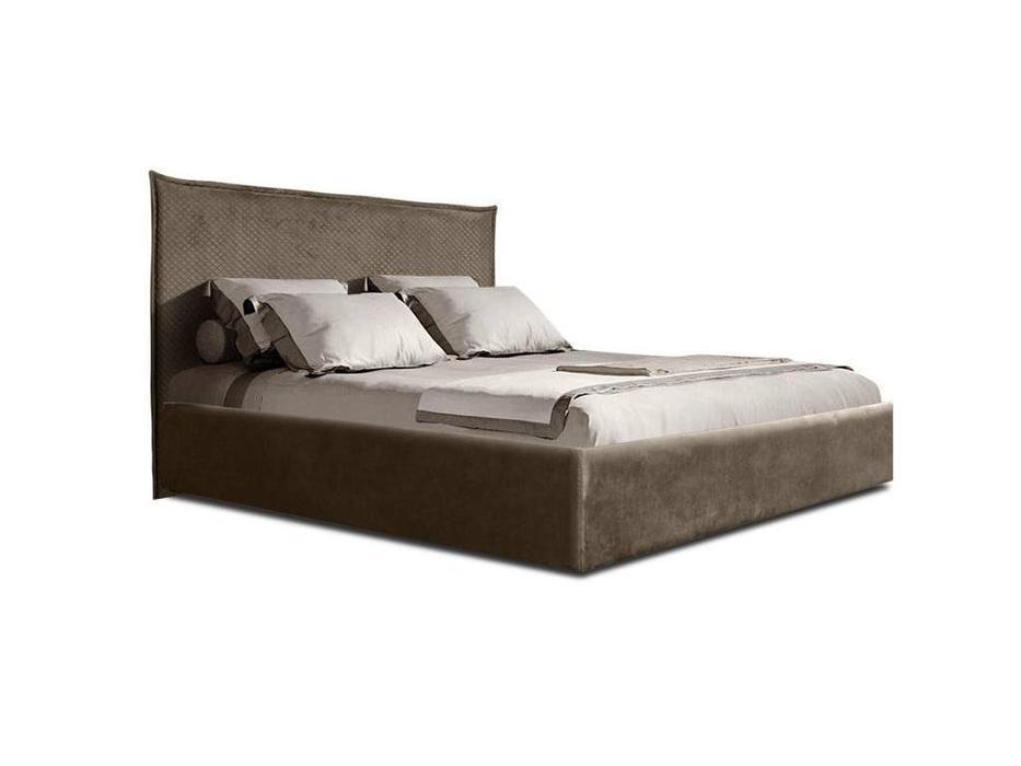 ЯМ: Диора: кровать 180х200 с подъемным механизмомм (пепельно-коричневый)