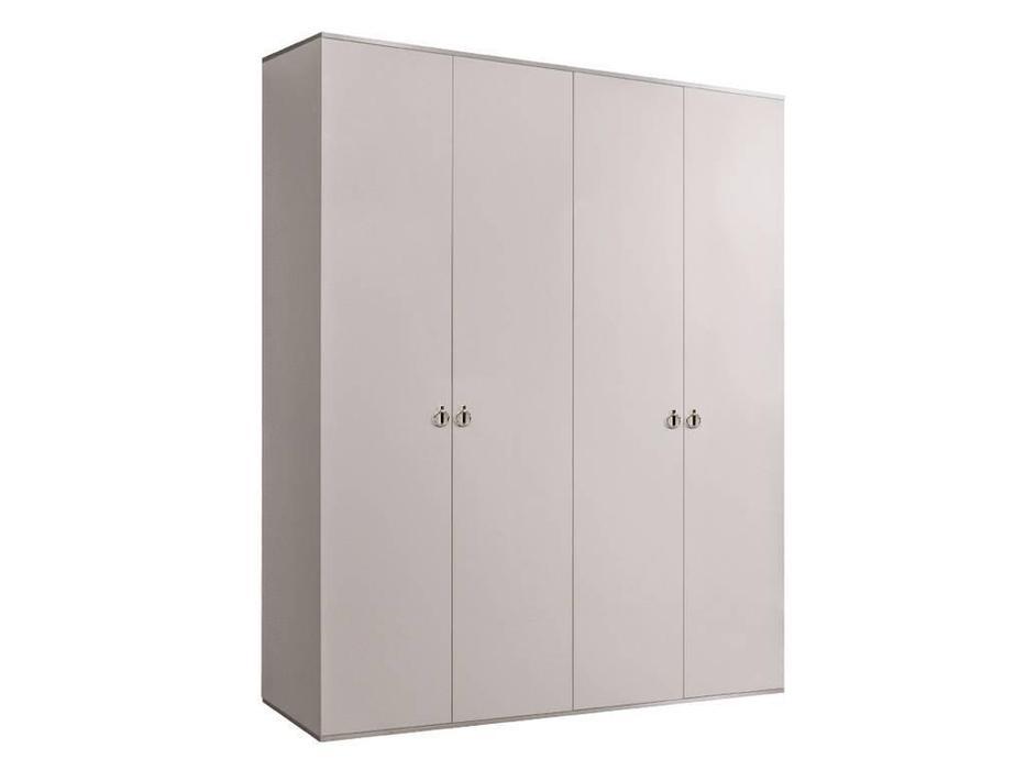 ЯМ: Римини: шкаф 4-х дверный  (слоновая кость, серебро)