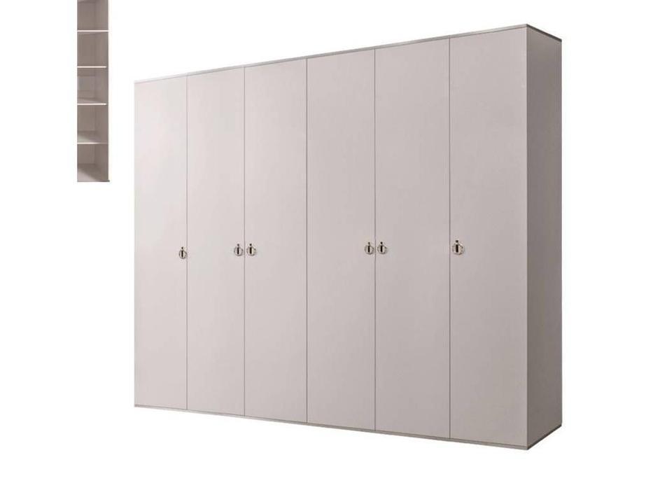 ЯМ: Римини: шкаф 6-ти дверный  (слоновая кость, серебро)