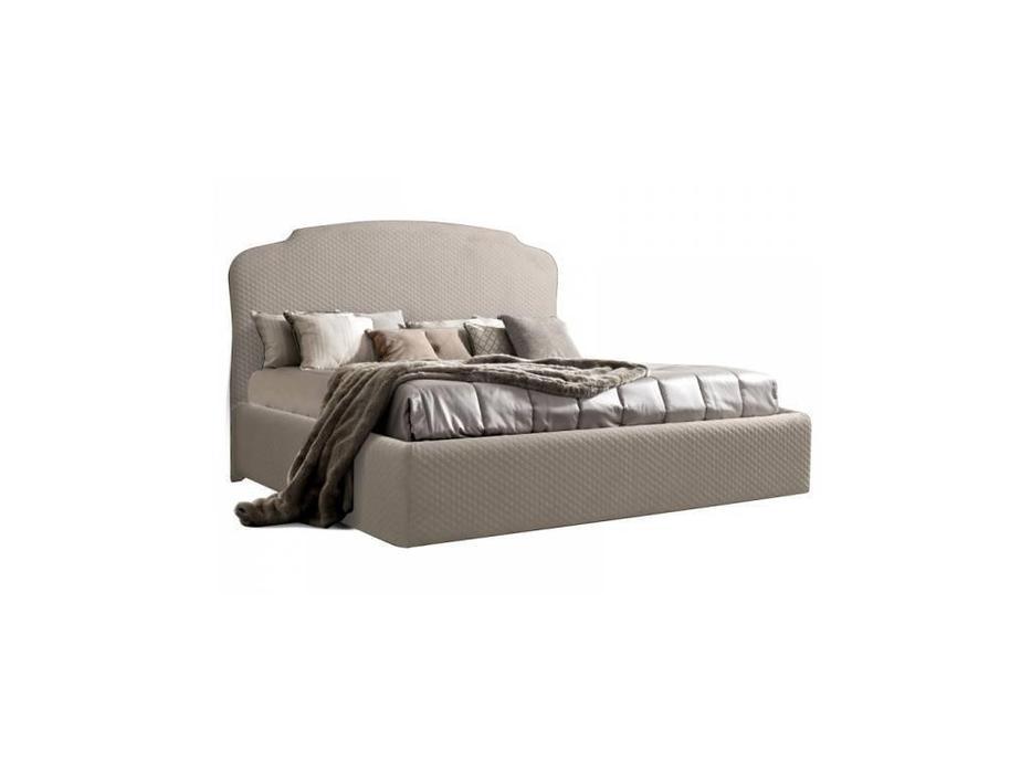ЯМ: Римини: кровать 160х200 с подъемным механизмом стеганая (бежевый)