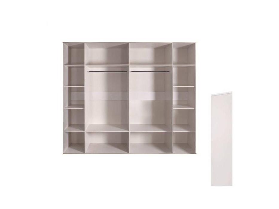ЯМ: Римини: шкаф 6-ти дверный  с зеркалами (слоновая кость, золото)