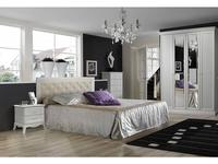 ЯМ: Амели: кровать 160х200 с мягким элементом  (выбеленный дуб)