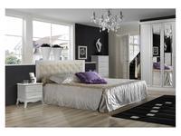 ЯМ: Амели: кровать 160х200 с подъемным мех-м, с мягк.элем-м  (выбеленный дуб)