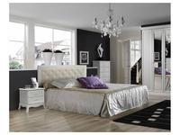 ЯМ: Амели: кровать 180х200 с мягкм элементом с п/м  (выбеленный дуб)