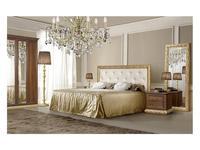 ЯМ: Тиффани: кровать  160х200 с мягким элементом (крем, золото)