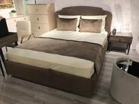 ЯМ: Римини: кровать 180х200 с подъемным механизмом стеганая (темно бежевый)