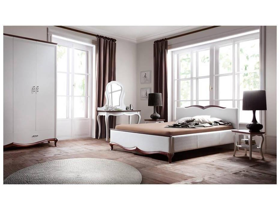 Taranko: Milano: кровать 160х200  (белый, орех)