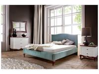 Taranko: Milano: кровать 160х200  ткань плюш (орех, ткань)