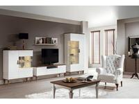 Taranko: Torino: стенка в гостиную  (дуб, белый)