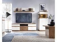Taranko: Como: тумба под телевизор  (дуб, белый)