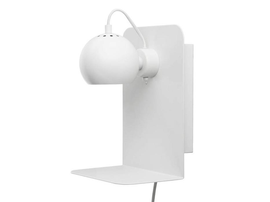 Frandsen: Ball: бра  с полкой и USB (белый матовый)