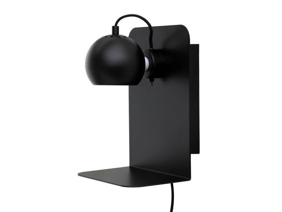 Frandsen: Ball: бра  с полкой и USB (черный матовый)