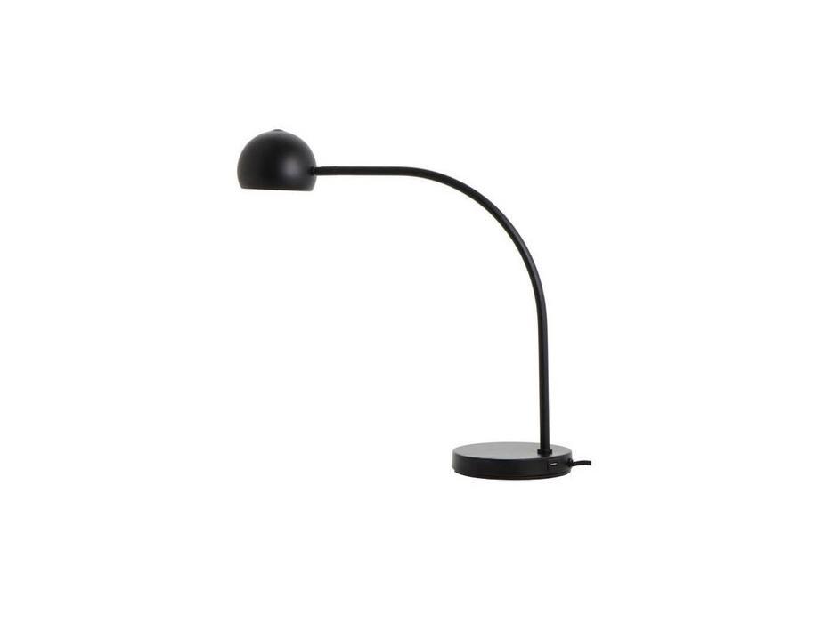Frandsen: Ball: лампа настольная  с USB (черный матовый)