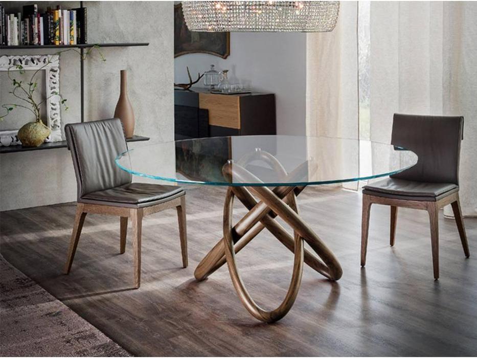 Cattelan: Carioca: стол обеденный круглый (walnut)