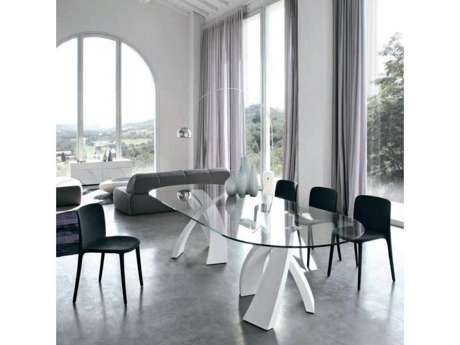 Tonin: Eliseo: стол обеденный  (стекло)