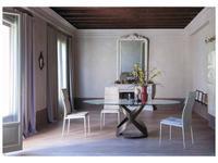 Tonin: Capri: стол обеденный  (графит, стекло)
