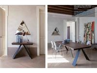 Tonin: Ventaglio: стол-трансформер  (дуб, графит)
