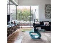 Tonin: Dubai: стол журнальный  (лак, стекло)