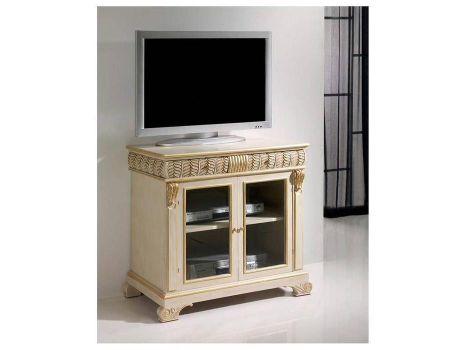 Llass: Da Vinci: тумба под телевизор  (слоновая кость, золото)