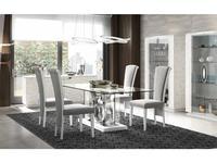 Llass: Kira: стол обеденный  (лак, стекло)