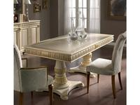 Llass: Da Vinci: стол обеденный  (слоновая кость, золото)