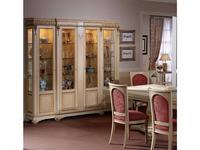 Llass: Da Vinci: витрина 4 дверная  (слоновая кость, золото)