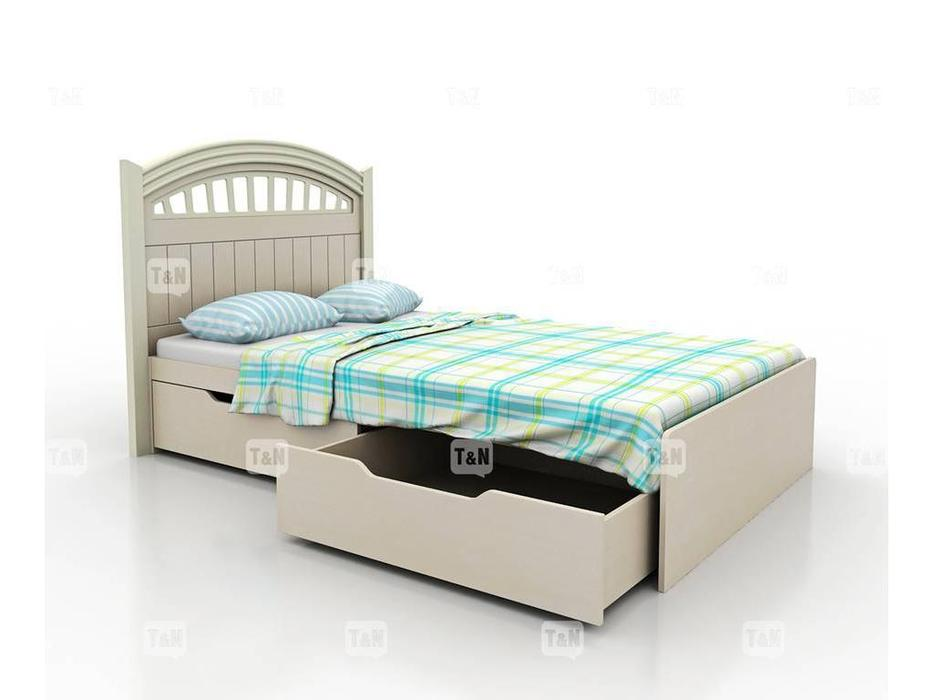 Tomyniki: Michael: кровать 90х190  (белый, розовый, зеленый, беж)