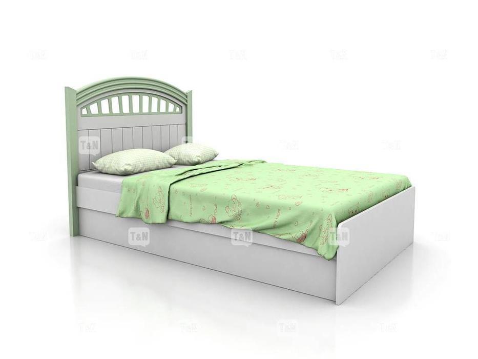 Tomyniki: Michael: кровать 120х190  (белый, розовый, зеленый, беж)