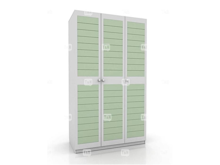 Tomyniki: Michael: шкаф 3-х дверный  (белый, розовый, зеленый, беж)
