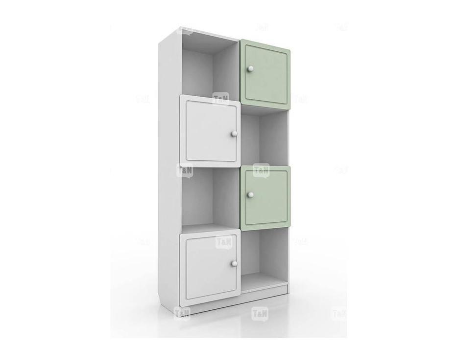 Tomyniki: Michael: шкаф книжный  (белый, розовый, зеленый, беж)