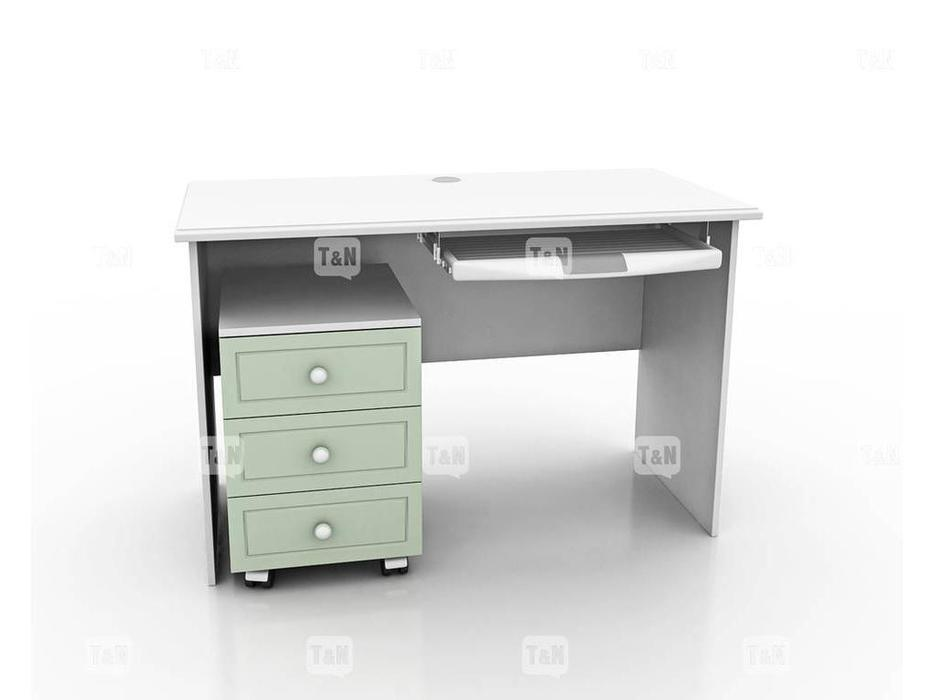 Tomyniki: Michael: стол письменный  (белый, розовый, зеленый, беж)