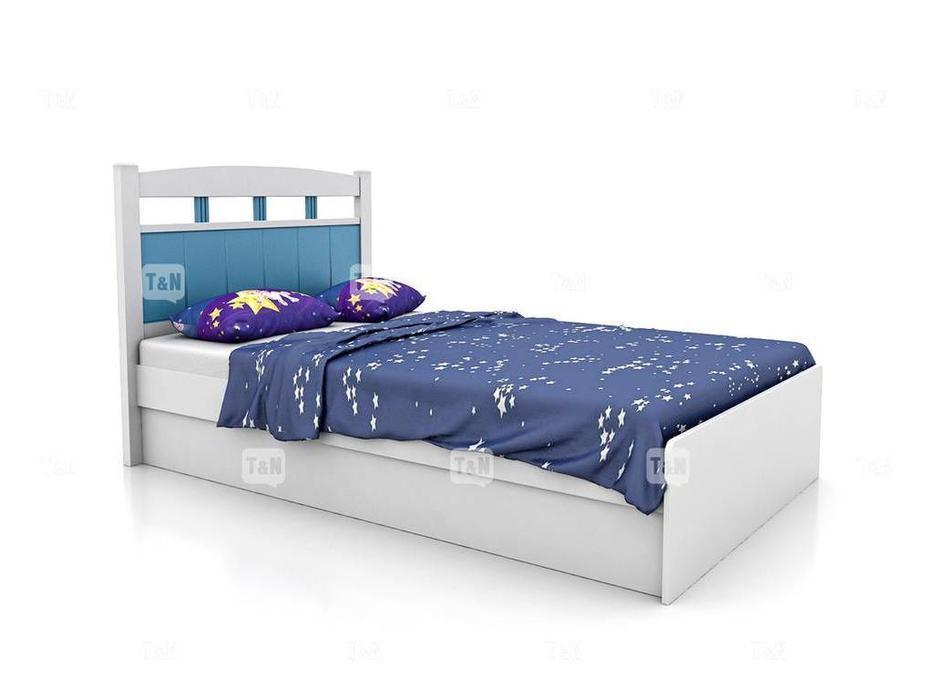 Tomyniki: Robin: кровать 90х190  (белый, розовый, голубой, беж)