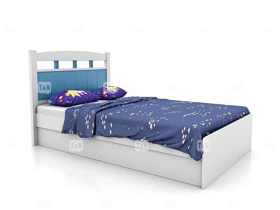 Tomyniki: Robin: кровать 120х190  (белый, розовый, голубой, беж)