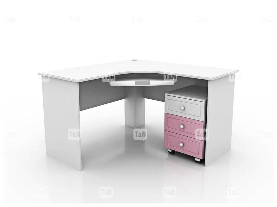 Tomyniki: Robin: стол письменный  угловой (белый, розовый, голубой, беж)