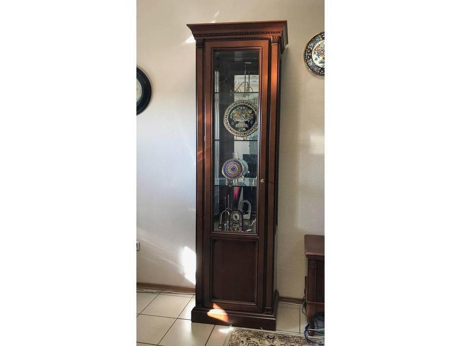 Флоренция: витрина 1 дверная с подсветкой левая (вишня)