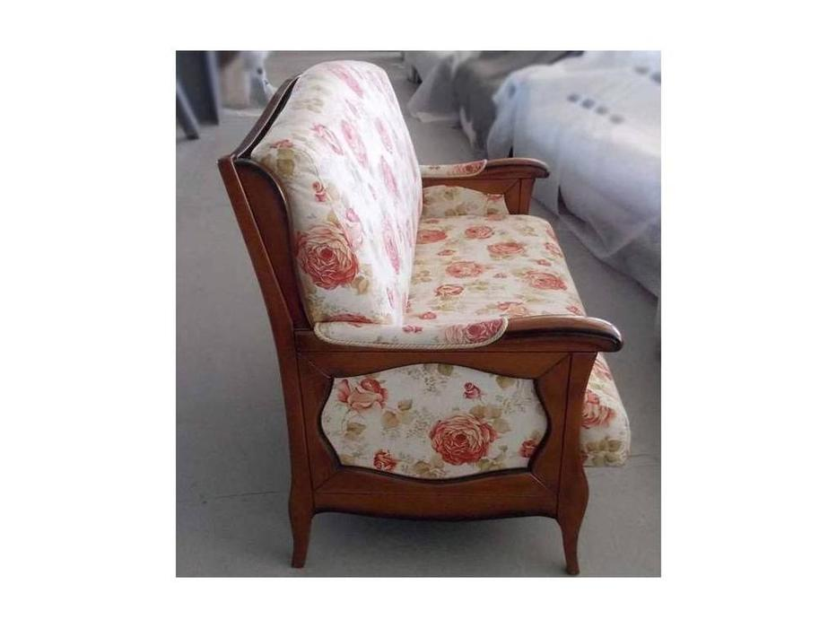 Les Cousins: St.Floren: диван 2-х местный (ткань, орех)