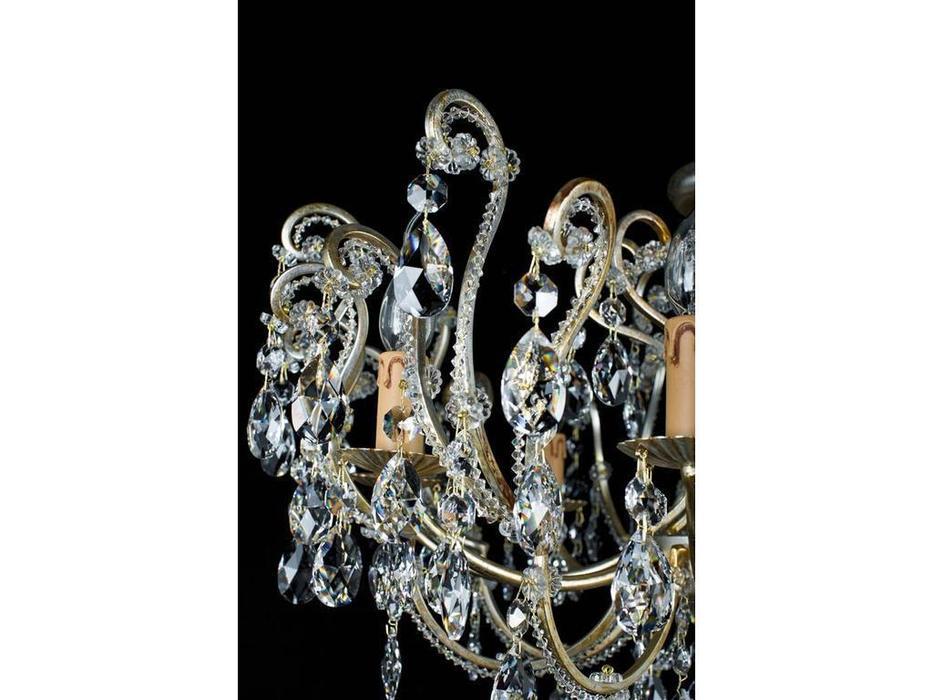 Due Effe: Anastasia: люстра потолочная  (cеребряная фольга)