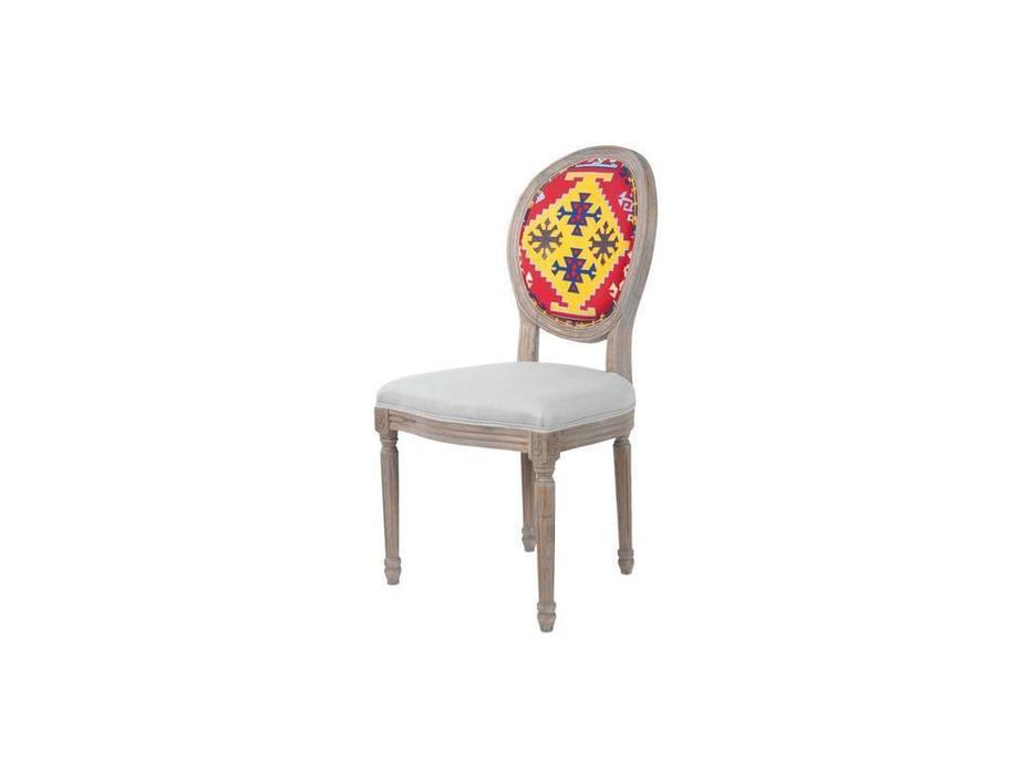 Interior: Miro: стул  (беж, цветная спинка)