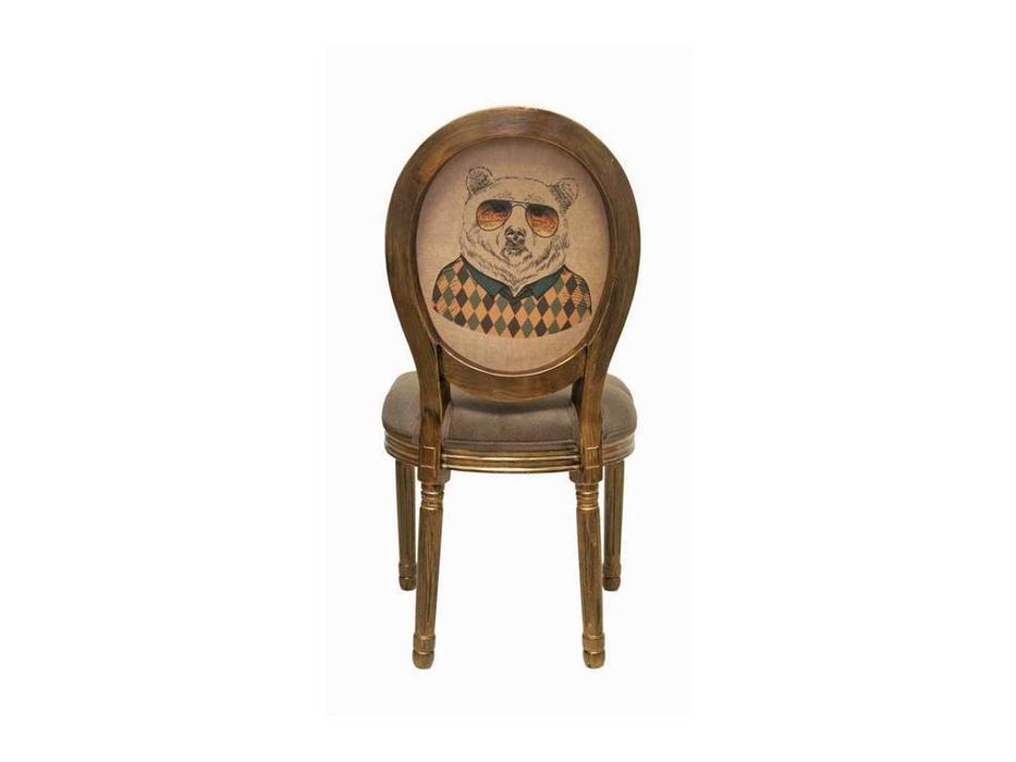 Interior: Volker: стул  (коричневый, золото состаренное, бежевый)
