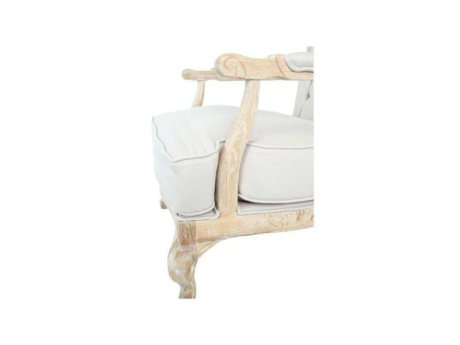 Interior: Honesta beige: кресло с пуфом  (ткань)